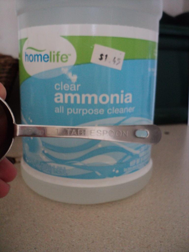 1 tablespoon ammonia