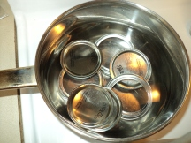 I just throw my rings in too.  Do not boil the lids!