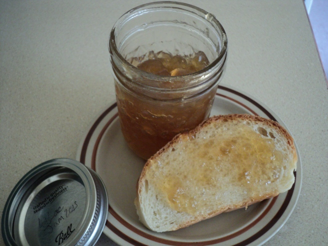 Lilac jam and homemade bread, all you need it chamomile tea and slippers...